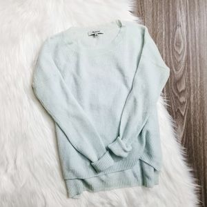 MADEWELL Mint Long Sleeve Knit Wool Sweater